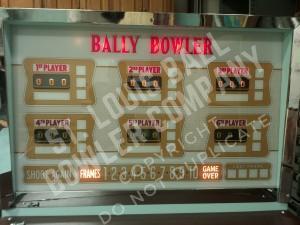 1964 Bally Backglass