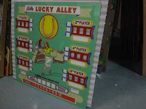 Bally LUCKY ALLEY upper backglass